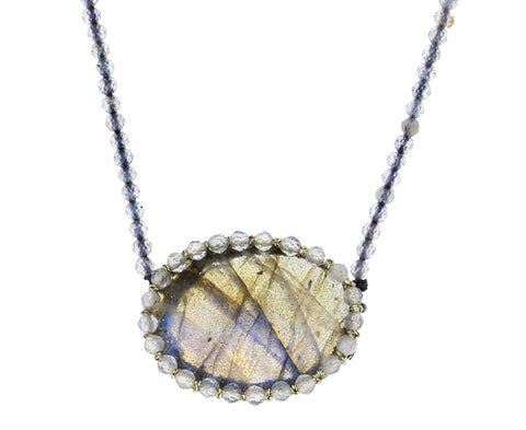 Caged Labradorite Pendant Necklace