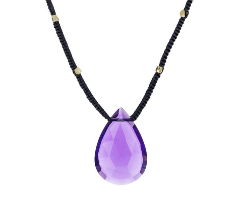 Amethyst Teardrop Pendant Necklace zoom 1_danielle_welmond_amethyst_drop_pendant_necklace