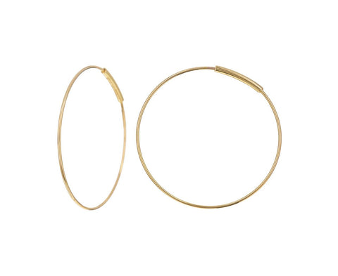Small Gold Hoop Earrings - TWISTonline