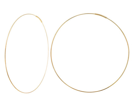 Large Gold Hoop Earrings - TWISTonline