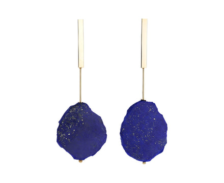 Lapis Plate Earrings