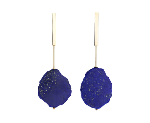 Lapis Plate Earrings - TWISTonline