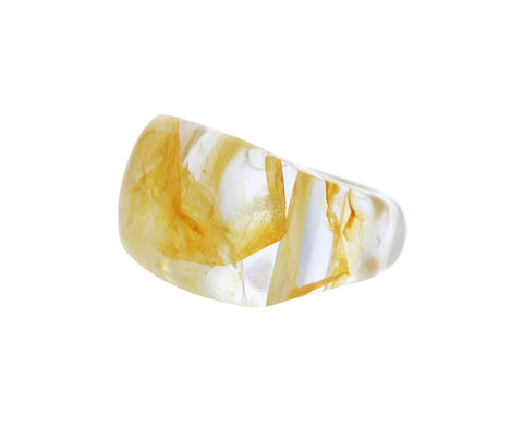 Rutilated Quartz Rock Ring