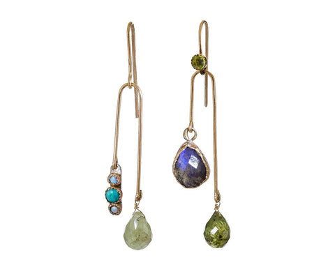 Multi-Gem Mobile Earrings zoom 1_julie_wolfe_gold_mixed_stone_mobile_earrings