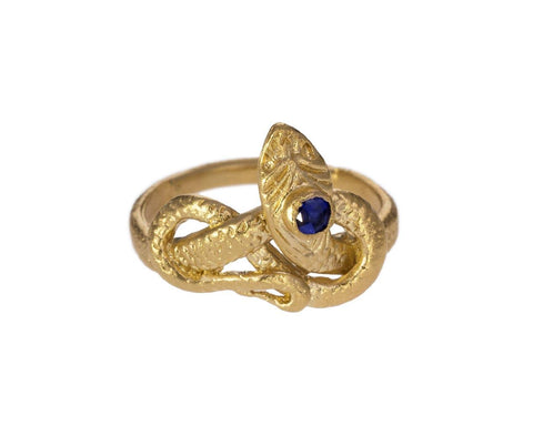 Gold Vermeil Sapphire Snake Ring zoom 1_julie_wolfe_gold_sapphire_snake_ring