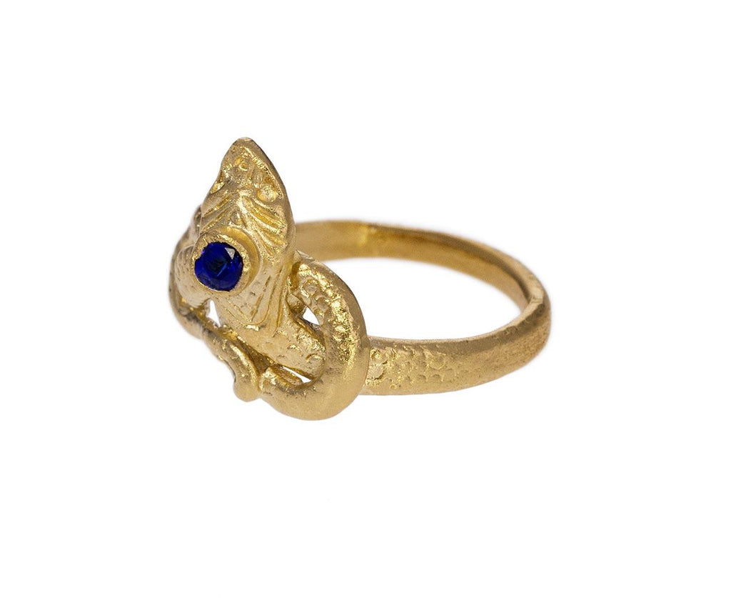 Gold Vermeil Sapphire Snake Ring zoom 2_julie_wolfe_gold_sapphire_snake_ring
