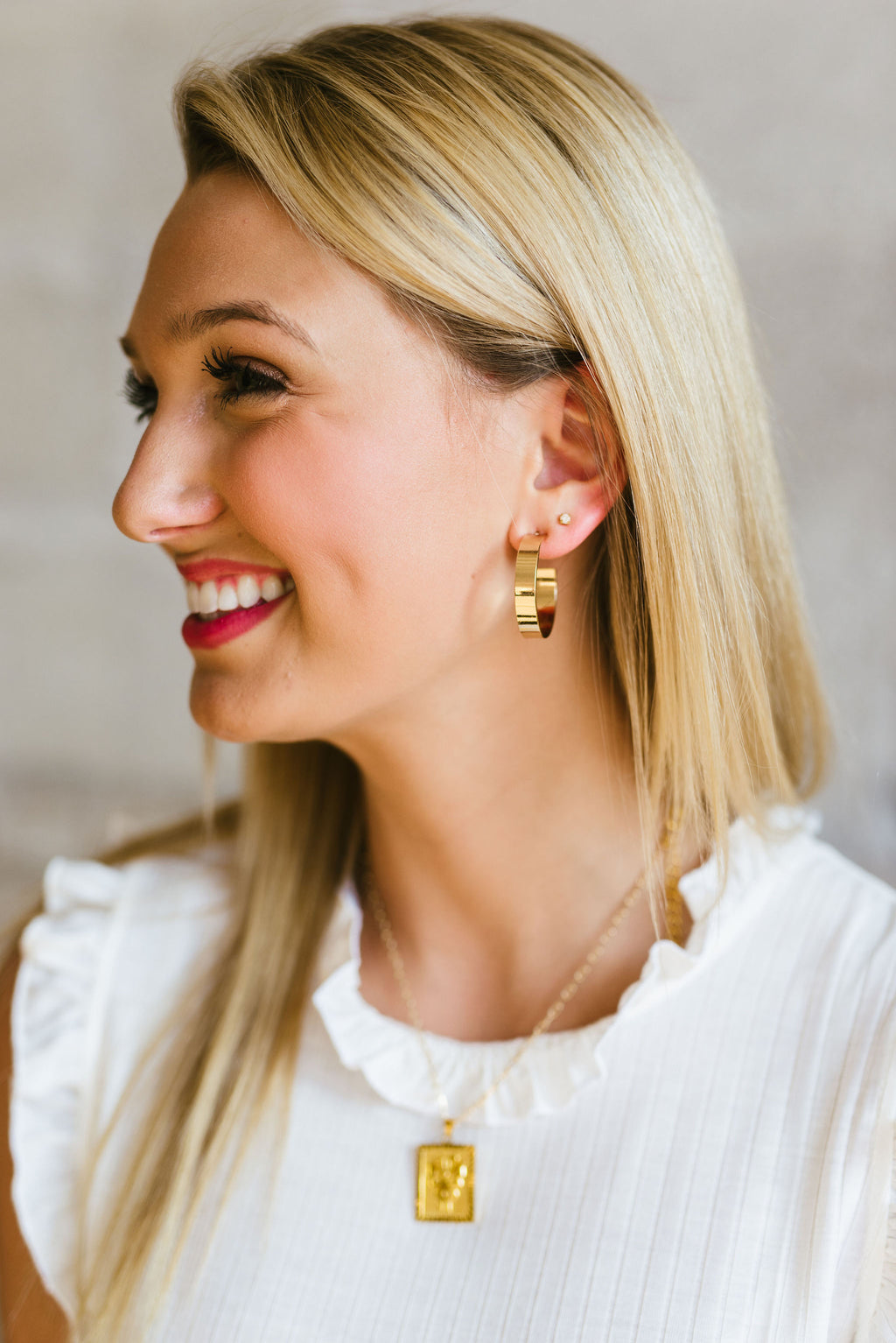 olivia earrings // gold - poppy & rose clothing