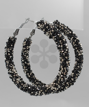 sparkly hoops // black