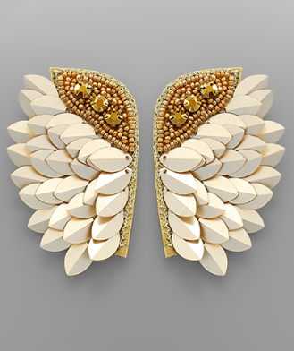 wing earrings // gold