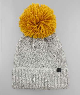 yarn beanie // grey - poppy & rose clothing