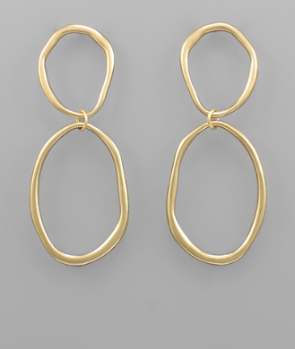 oval earrings // gold