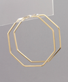 octagon hoops // gold - poppy & rose clothing