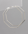 octagon hoops // silver - poppy & rose clothing
