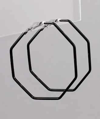 octagon hoops // black - poppy & rose clothing