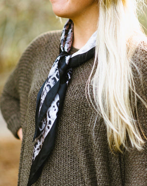 crocodile scarf - poppy & rose clothing