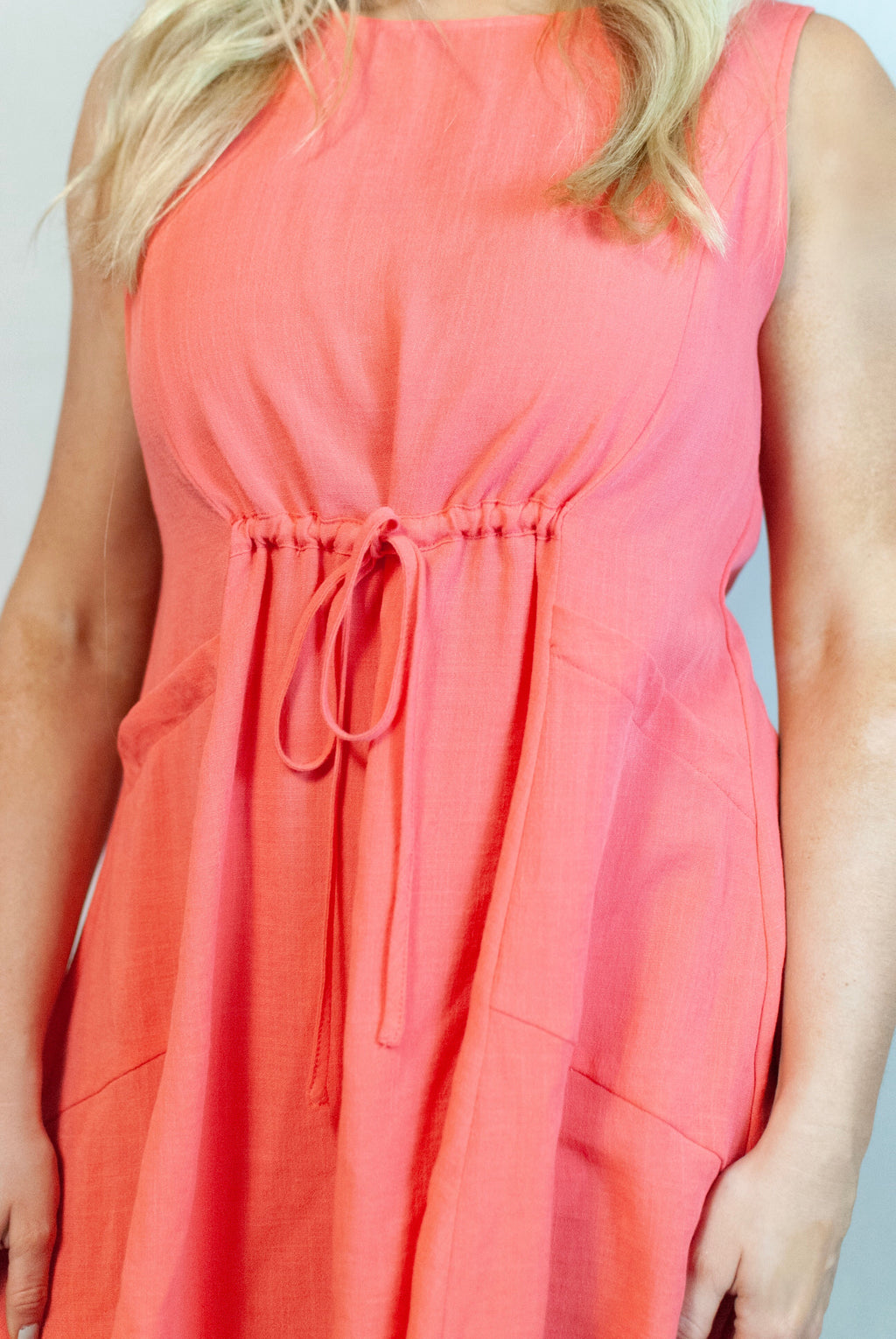 danielle dress // coral - poppy & rose clothing