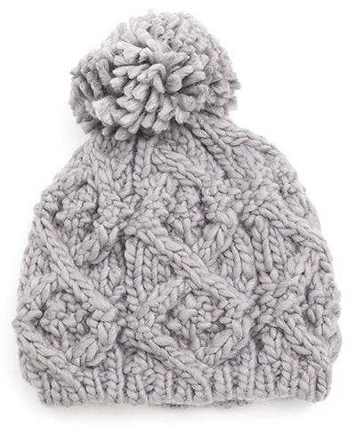 cable knit beanie - poppy & rose clothing