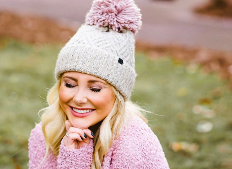 yarn beanie // natural - poppy & rose clothing
