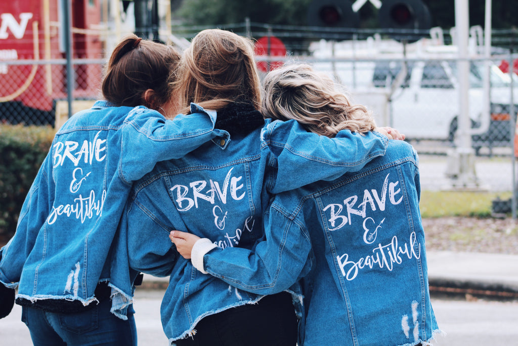 brave & beautiful denim jacket