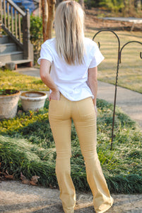 yellow striped flares