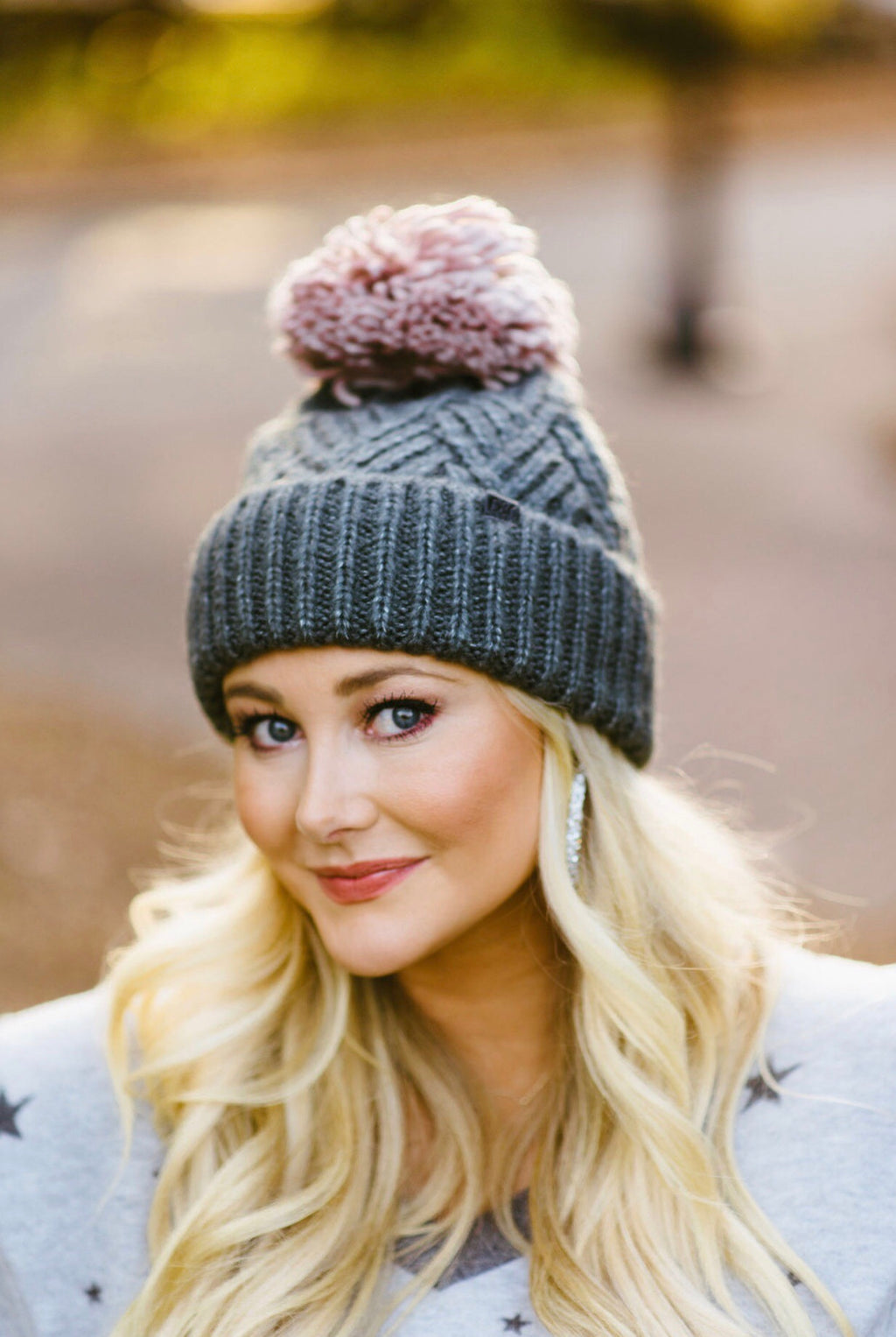 yarn beanie // charcoal - poppy & rose clothing