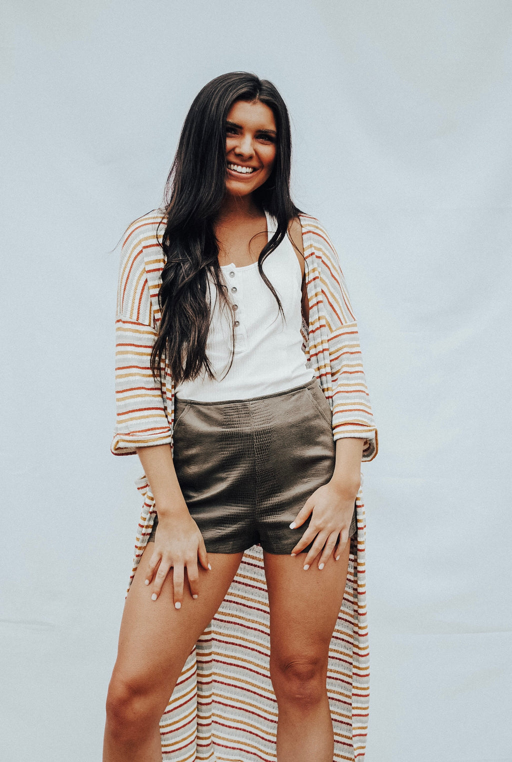 faux leather shorts - poppy & rose clothing