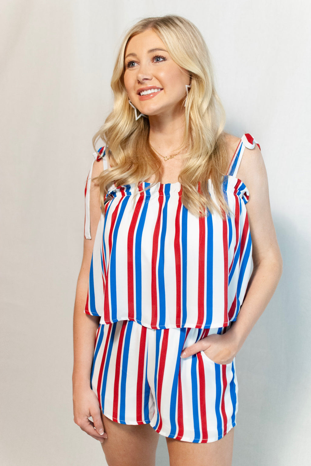 USA striped top - poppy & rose clothing