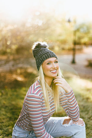 chenille beanie - poppy & rose clothing