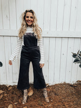 Load image into Gallery viewer, corduroy culottes overalls
