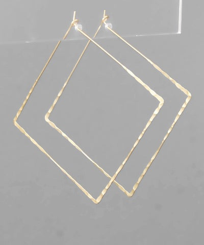 skinny square hoops