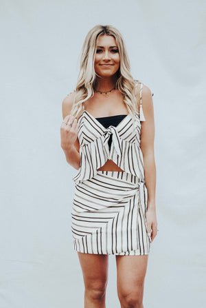 striped tie top - poppy & rose clothing