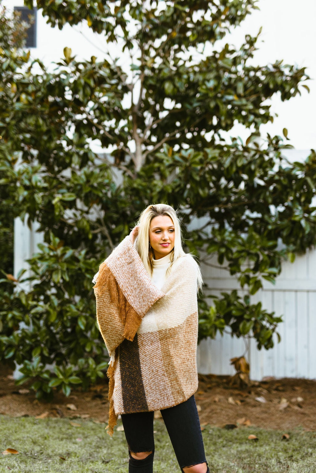 blanket scarf - poppy & rose clothing