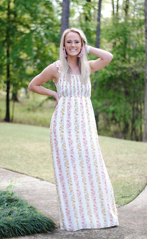 floral maxi - poppy & rose clothing