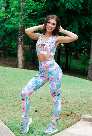 floral leggings - poppy & rose clothing