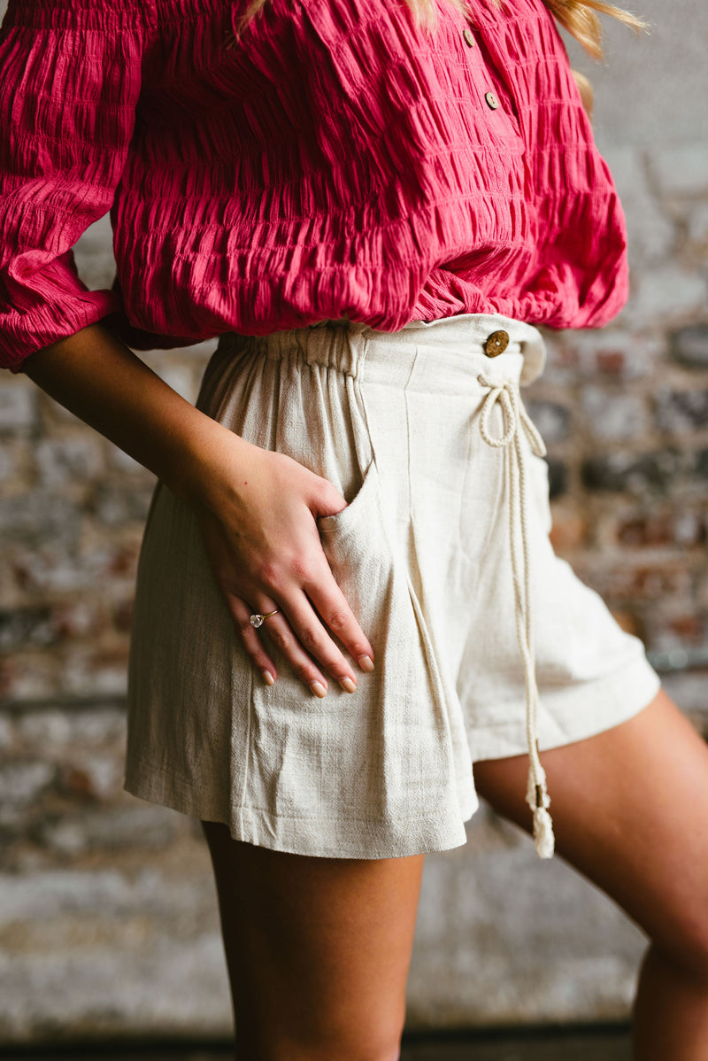 lily shorts // oatmeal - poppy & rose clothing