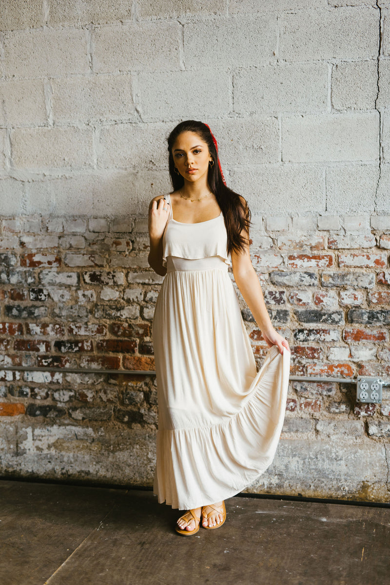 marlie maxi // ivory - poppy & rose clothing