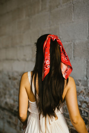 harmony scarf // red - poppy & rose clothing