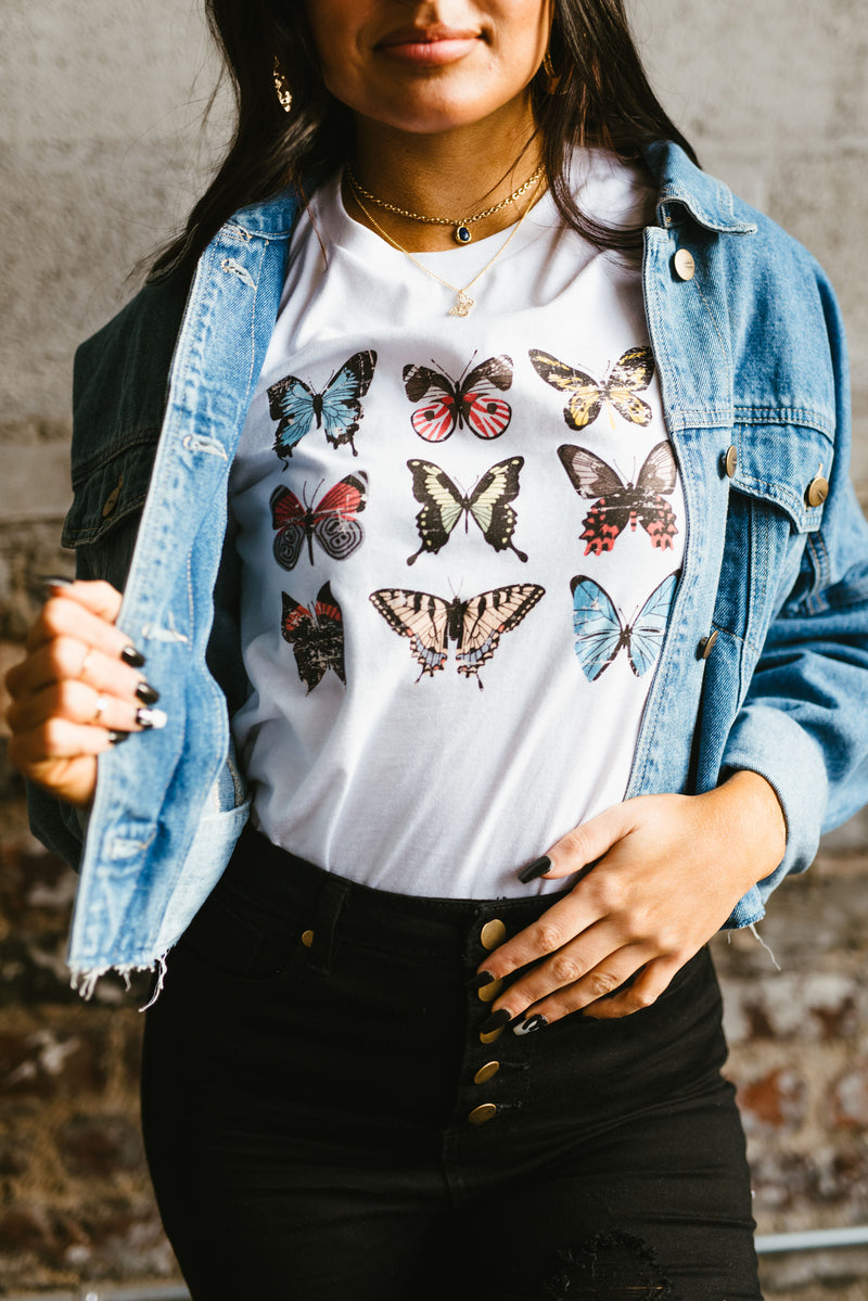 flutter tee - poppy & rose clothing