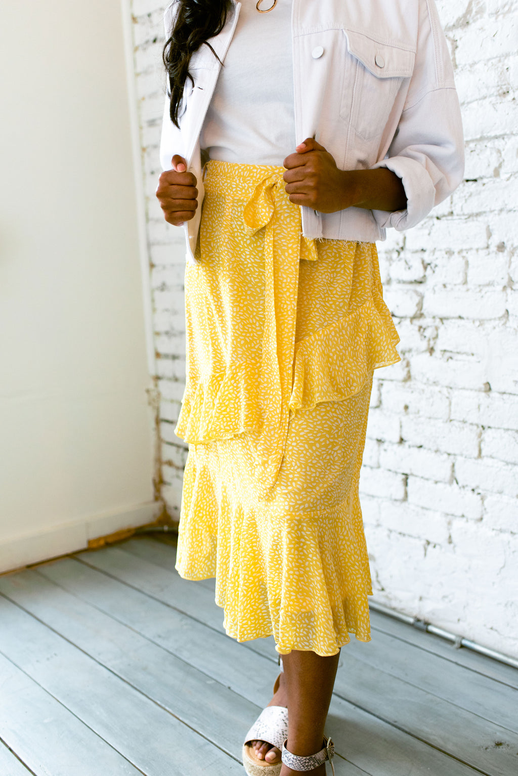 bloom skirt // yellow - poppy & rose clothing
