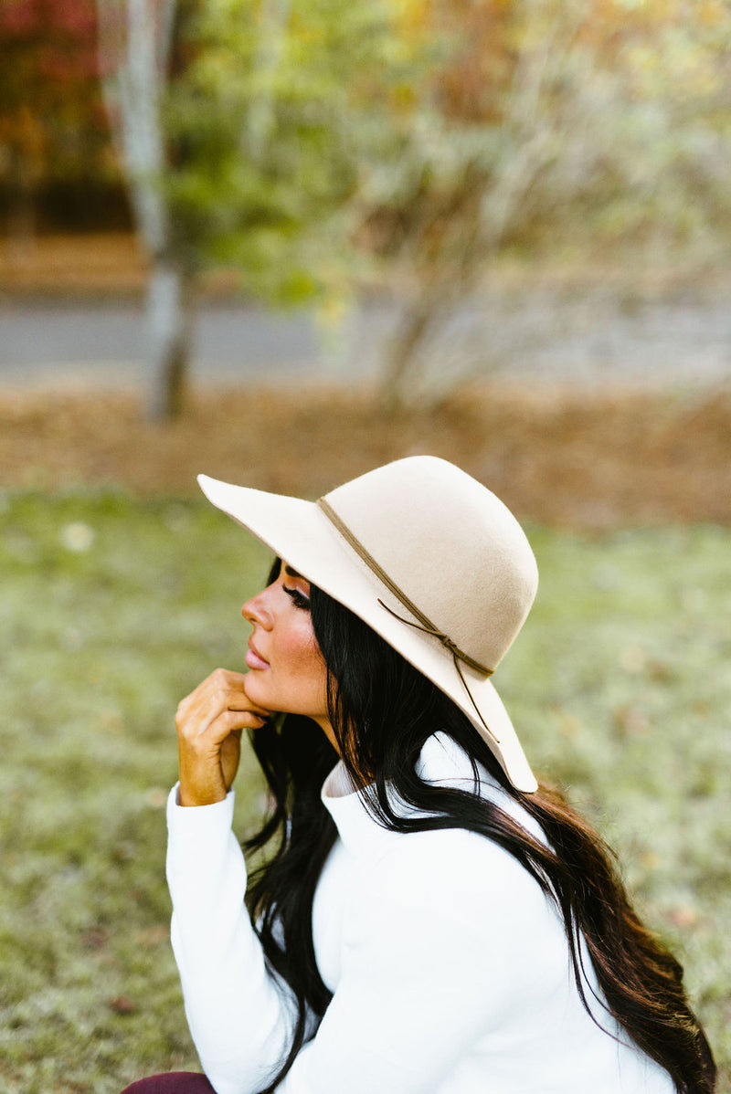 sophie floppy hat // camel - poppy & rose clothing