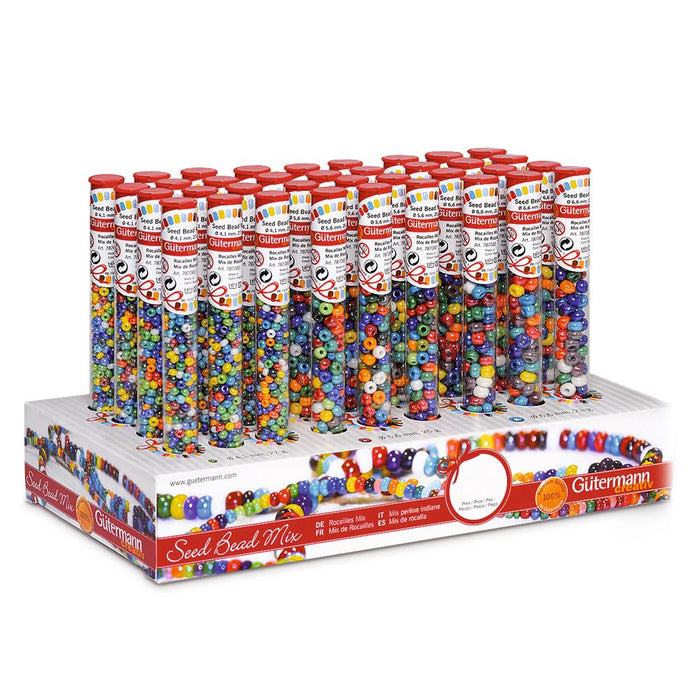 Counter Display Unit: Seed Beads: 36 x Tubes: Assorted