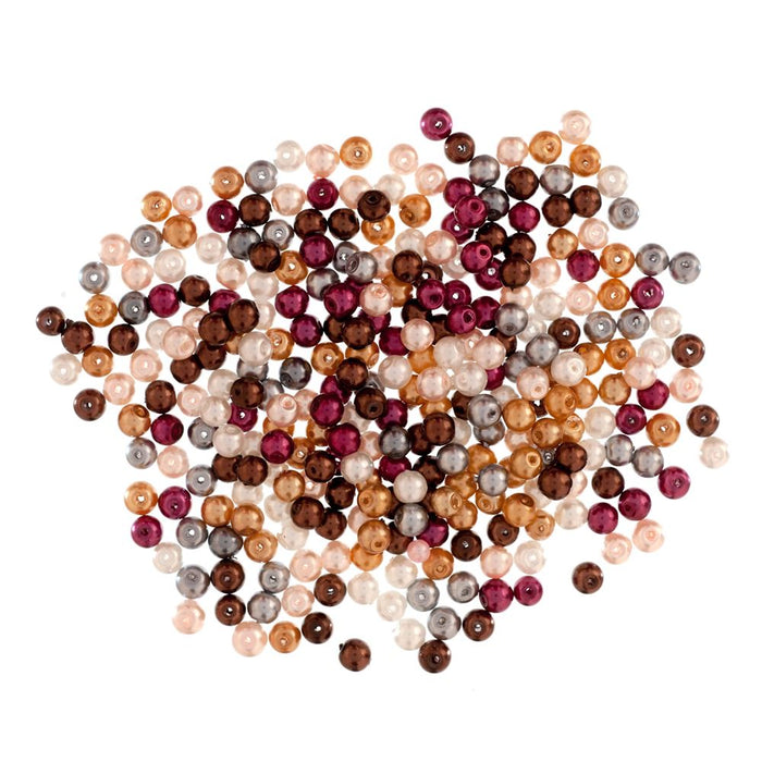 Extra Value Glass Pearls 4mm Multi: Packs of 280
