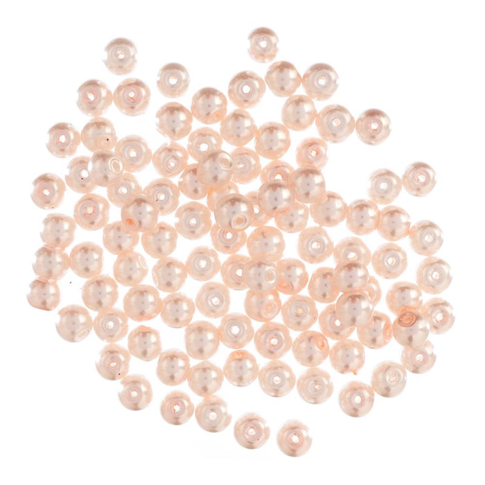 Extra Value Glass Pearls 6mm Pink: Packs of 100