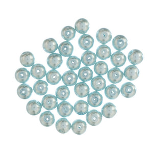 Extra Value Glass Pearls 8mm Ice Blue-Packs of 40
