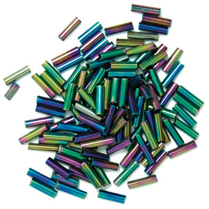 Extra Value Bugle Beads: Rainbow: Pack of 30g