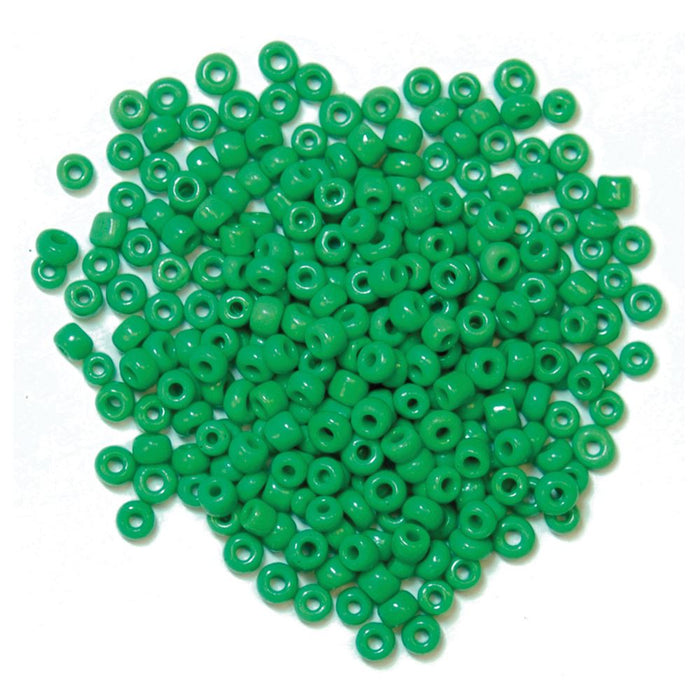 Extra Value Seed Beads: Green: Packs of 30g