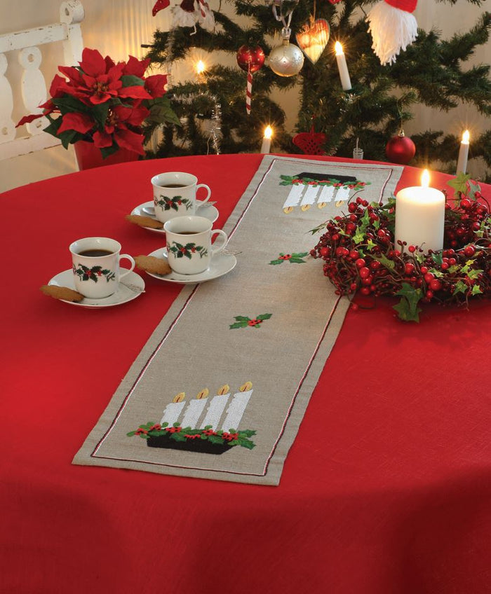 Embroidery Kit: Runner: Advent Candlestick