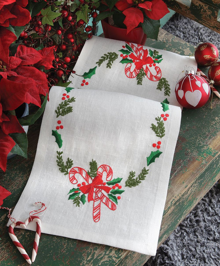 Embroidery Kit: Runner: Christmas Candy