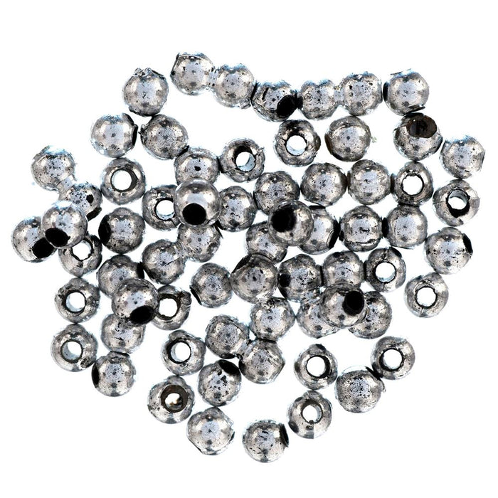 Extra Value Plated Beads: 4mm: Silver: Packs of 450g