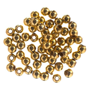 Extra Value Plated Beads: 4mm: Gold: Packs of 450g